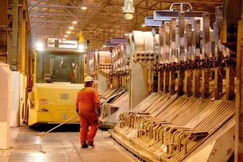 I MINUS: 112 millionar kroner er underskotet i Årdal på, hovudsakleg på grunn av høge råvareprisar og låge aluminiumsprisar, i følgje pressemeldinga. (Arkivfoto)