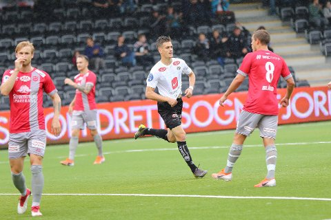 NYE EVENTYR: Sigurd Hauso Haugen (22) har spelt sin siste kamp for Sogndal og er no klar for den belgiske klubben La Royale Union Saint-Gilloise. (Arkivfoto)