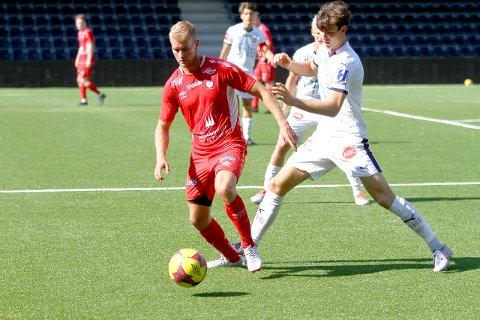 STERK SIGER: Fjøra vann laurdag 4-0 over Stord heime på Fosshaugane Campus. (Arkivfoto)