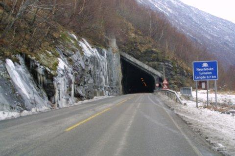 TIL RETTEN: Ulukka skjedde i Naustbukttunnelen mellom Øvre og Tangen i mars 2019. (Arkivfoto)