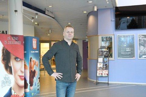 NØGD: - Kjekt med ei lita oppmuntring, seier kinosjef Tor Uglum om Sogndal kino sine gode resultat i ein kulturindeks. (Arkivfoto)