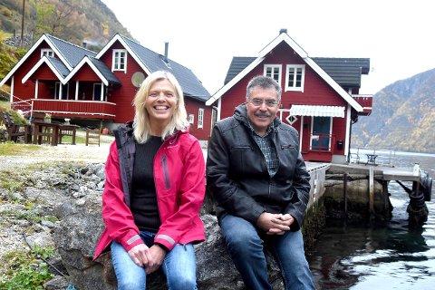 POPULÆRT VERTSSKAP: Evy og Inge Otterskred har gjester som kjem att år etter år. Paret starta i turistbransjen for 24 år sidan.
