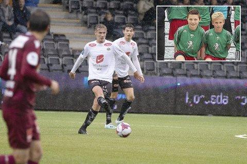 HAR GÅTT GRADENE: Årdølene Eirik Lereng og Sivert Mannsverk har spelt fotball saman sidan dei var fem og seks år gamle. No er dei begge tatt ut på G18-landslaget. (Foto: Arkiv)