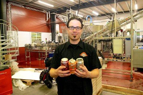 BUTIKKVOLUMET: Evan Lewis og Ægir Bryggeri i Flåm er pioneren i denne bransjen og er representert i butikkhyllene over heile landet.