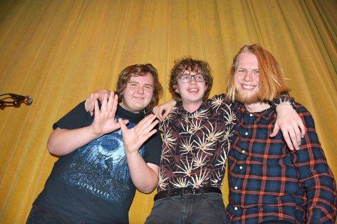 ROCK MOT VIRUS: Desse tre karane i Secondhand Saints deltek i historisk nettfestival. Fv: Sander Fjærestad, Trygve Lihaug, og André Høberg.