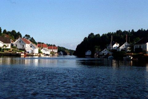HYTTER: Skippergaten, rett utanfor Kristiansand. Eit populært område med mange sommarhus og hytter.