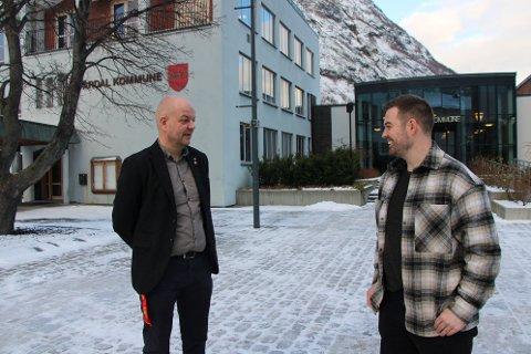 KLAR TALE: Hilmar Høl og Torbjørn Vereide vil ikkje ha omkamp om fylkessamanslåing.