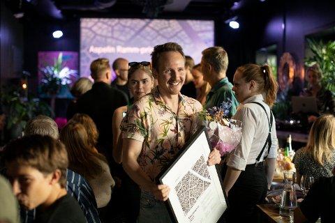 ATTRAKTIV BRANSJEPRIS: Yngve Bråten frå Leikanger fekk Aspelin Ramm-prisen 2021.
