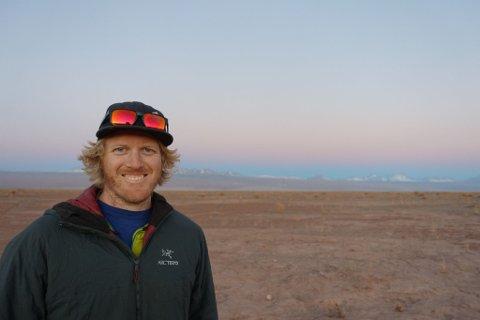 FRILUFTSMENNESKE: Kristian Larsen (34) kjem frå Skien, men bur no i Årdal der han jobbar på Hydro.