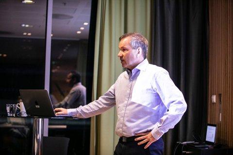 Trond Gørbitz Juvik, daglig leder i Feide, under et møte i styringsgruppen ved Stavanger lufthavn Sola tilbake i desember 2018.