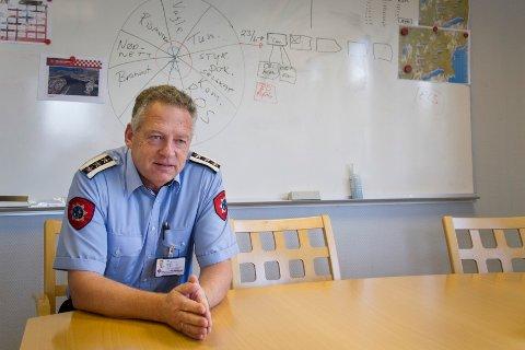 Henry Ove Berg, brannsjef i Brannvesenet Sør-Rogaland har Skangass sitt forslåtte bunkringsanlegg og Risavika på tavla for tiden.