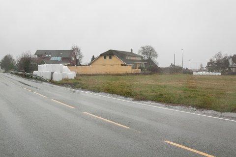 På denne marken langs Kristine Bonnevies vei kommer det nærbutikk med leiligheter.