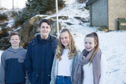 Dysjaland-elevene Morgan Mobekk, Joachim Rasmussen, Ida Lisette Prøsch og Ingvild Klungtveit vil velge utdanning etter interesse.
