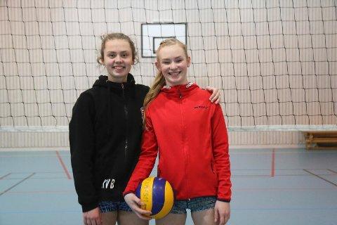 Kari Vølstad Bogen og Maria Halsne Dahl er venninner. De har gått i samme klasse i tolv år og spilt sammen på volleyballbanen siden de gikk i 5. klasse.