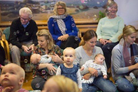 Babysangen til Tananger menighet er en fast gruppe som møtes i kirken hver mandag. Denne onsdagen var de imidlertid på Tabo.