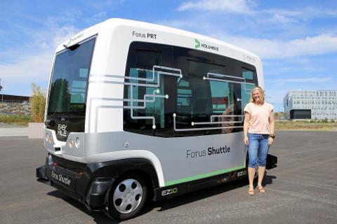 Linn Terese Marken er daglig leder i Forus PRT som er leverandør av den autonome kollektivtjenesten.