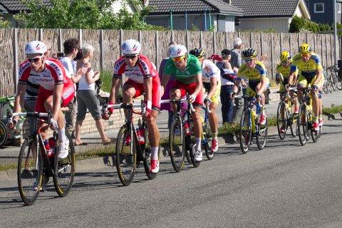 Alexander Kristoff (i grønn trøye) blir å se under Tour of Norway. Rittet samler noen av verdens beste syklister.
