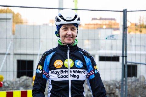 GLEDER SEG: May Britt Våland er syklisten i Norge med mest erfaring innen banesykling. Den kunnskapen vil hele sykkelmiljøet i Rogaland nå ha nytte av.