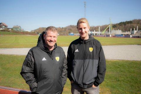 Arrangementsansvarlig Frode Enge Hovdal og daglig leder i Sola FK, Morten Wiik Larsen, kan være fornøyd med et regnskap i pluss.