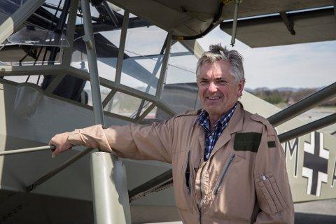 Arkivfoto. Leidulf Heskje er styreleder i det nyoppstartede firmaet Electric Aircraft Propulsion AS. Han eier også sitt eget fly fra krigen, en Fieseler Storch.