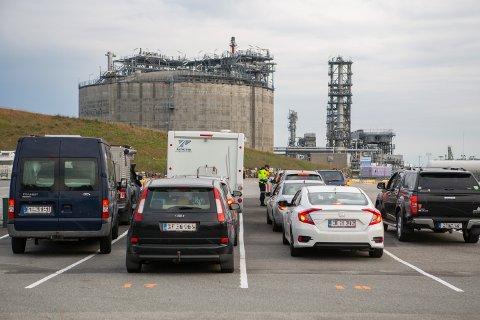 Den nye kjøremønsteret i Risavika gjør testing og dokumentsjekk smidigere enn tidligere.