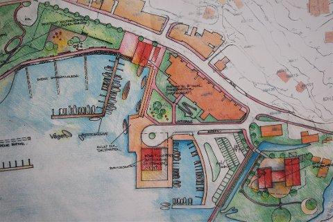 PLANLEGGER VÅGEN: Slik ser en av skissene av nye Jørpelandsvågen til Strand kommune ut. Tegnet av arkitekt og byplanlegger Sunniva Idsø.