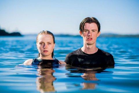 Andrea Ådland og Mathias Keilegavlen Nygård i duoen Finding Neo går ein spennande haust i møte. (Foto: Kristofer Ryde)