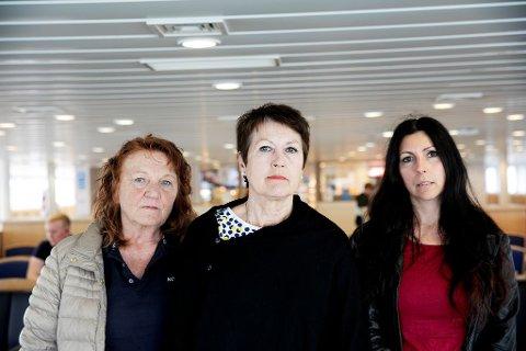 Solveig Fjellstad, Aud Voll og Nina Steinsland får ikke etterlønn når de må slutte å jobbe i Tau-sambandet. (Foto: Tri Nguyen Dinh, Maritim Logg)