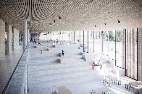 KRITISK: Pål Christian Eidem stiller flere spørsmål rundt Strand kommunes kulturpolitikk og er skeptisk til hvordan administrasjonen går frem når det gjelder å utsmykke nye Fjelltun skole. (Skisse: Arkipartner)