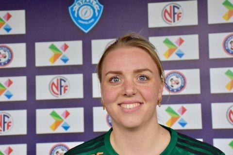 STAALPROFIL: Elin Norland Eie har en flott fotballkarriere bak seg og gleder seg til å kunne spille kamper igjen..