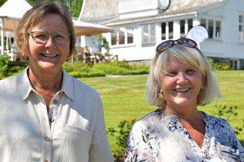 KLARE IGJEN: Arnhild Vetrhus Karlsen og Bjørg Mary Fjelde Heskje gler seg til å visa fram keramikken og bilda dei har laga i Villa Rosehagen i helga.