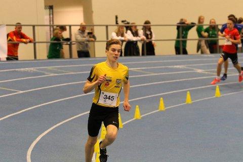 Rask: Mathias Vanem Aas vant både 800 meter og 1500 meter på sitt første junior-NM i mars 2019.