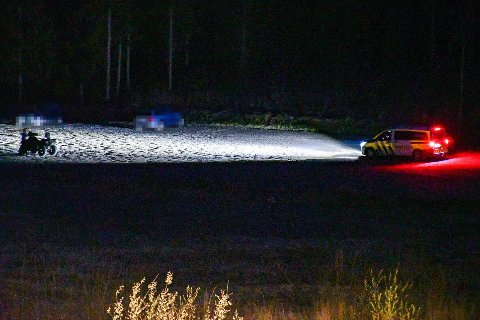 ATV: Politiet på stedet fikk raskt kontroll på føreren av firhjulingen som viste seg å være beruset og under 18 år.
