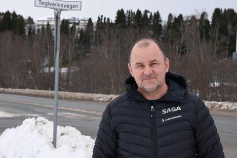 Gir ikke opp: Varaordfører i Steinkjer kommune, Øystein Bjørnes gir ikke opp en lavere fartsgrense på Henningvegen