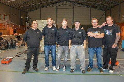 THE LINK: Disse gutenne står bak The Link-prosjektet. F.v Thomas Brenna, Kjetil Lersbryggen, Martin M. Strømsheim, Arne Kristian Kittelsen og Rolf Stian Paulsen.