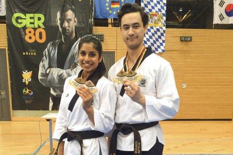REGJERER EUROPA: Nina Bansal og Joachim Wien herjer med eliten i Taekwondo mønster. I helgen vant de Europacup i Tyskland.