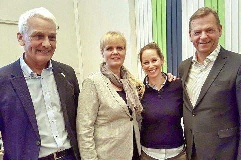 OMDØMME: Fra venstre nestleder i utvalget Inge Høyen, leder Kristin Surlien, Mari Tandberg og Tom Søgård fra «Byen Vår Drammen»