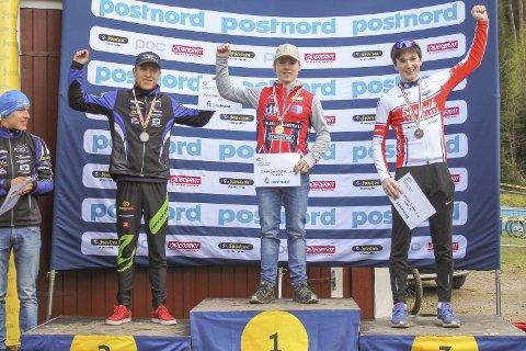 PALL: Jørgen Anmarksrud Konnerud CK på toppen, mens Svelvik Sykleklubb sin Gabriel Cornelis Slinger på tredje.