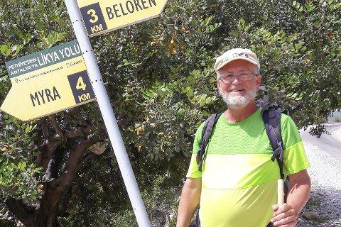 KORSVEI: Siste fire kilometer så er årets mål nådd i Myra. Foto Muri.