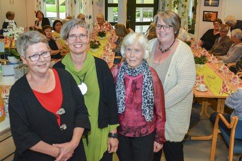 20 ÅR: Husflidslaget fyller 20 år 10. juni, og Linda Vestgarden, Anne Synnøve Vaagsland Horten, Berit Johnsrud og Hilde Lærum satt i det første styret.