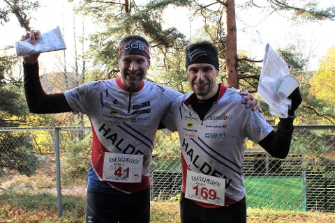FØRSTEPLASS OG ANDREPLASS: Tidligere verdensmester Emil Wingstedt (t.v.) nummer 1 og Andreas Johansson. nr 2.