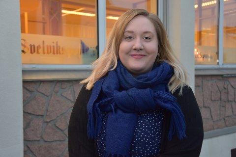 Takker for seg: Silja Björklund Einarsdóttir har vært ansatt som vikarjournalist i Svelviksposten siden august, men takker nå for seg. På nyåret går turen nordover til nye utfordringer i avisen Fremover i Narvik.