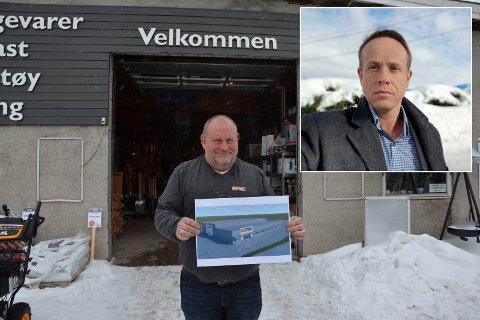 Overlatt til seg selv: – Vi må ikke glemme at det ikke er store multinasjonale selskaper som kommer til Svelvik for å etablere seg på Grunnane, skriver Hilden.