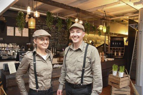 UTVIDER: Driverne av Café Jebsen, Karolina og Wieslaw Bartosz, overtok restauranten på Haga golfklubb i april. Nå utvider de med et selskapslokale. Denne gang på Berger.