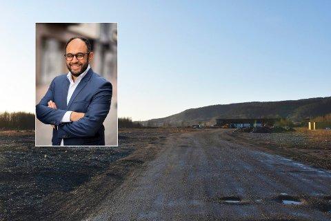 Adnan Afzal i Næringsforeningen i Drammensregionen synes initiativet om å etablere en næringspark er godt.