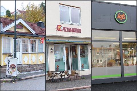 Pølseboden, Pizzabakeren og Jafs er blant stedene i Svelvik som ikke omfattes av Smilefjesordningen til Mattilsynet.