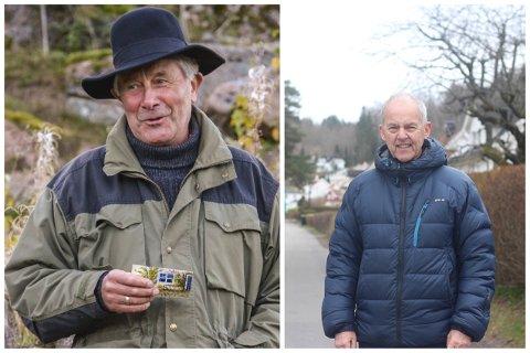 Jan Hanche (t.v) fra Vassåsens venner og Thor Arne Gabrielsen fra Berger kirkes venner. Begge foreningene er to av ti finalister til årets Frivillighetspris.