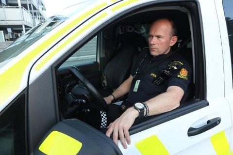 Geir Oustorp, leder for forebyggende enhet ved politiet i Drammen.