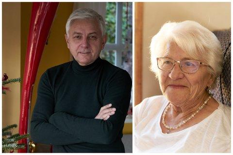 Andrew og moren Margaret Henning.