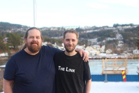 Knut Thomas Brenne (t.v) og Martin Tharaldsen er klare for nok et The Link-eventyr. Denne gangen forsvant samtlige billetter overraskende fort.